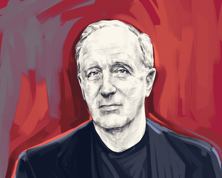An illustration of the author Steven Pressfield, originally from the Tim Ferriss blog