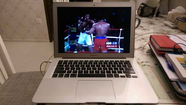 The humble set up of the day I started to appreciate boxing as a sport