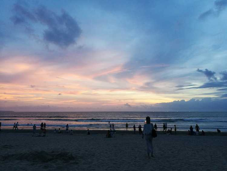 bali kuta beach sunset