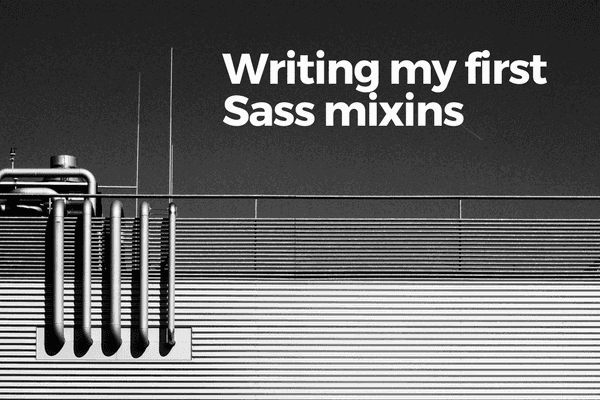 writing my first sass mixins banner