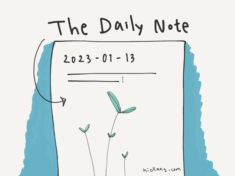 hand-drawn illustration of a Daily Note